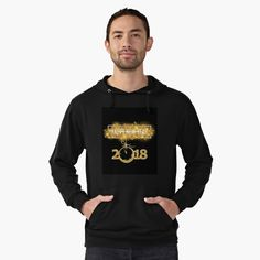 2018 New Year-Gold life Lightweight Hoodie Front