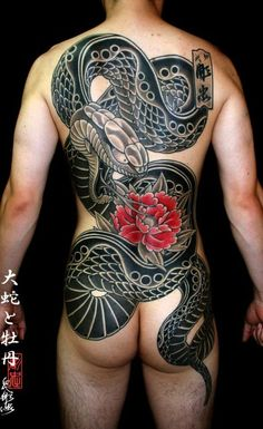 22 Exceptional Japanese Snake Tattoos