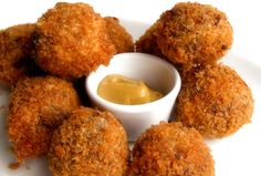 Bitterballen Dutch Croquettes--reminds me of our honeymoon.  AMAZING!