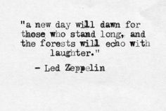 Led Zeppelin, a time when lyrics were creative and songs meant something
