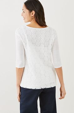 lace-back pullover