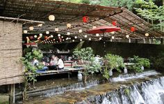 High times: Dining kawadoko-style over moving water — here, the rushing Kibune River — is a restful way to eat and a great way to stay cool in summer.