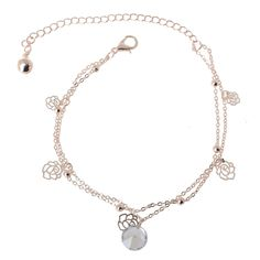 Willsa Jewelry for Women 1PC Female Simple Fashion Family Name Wind Anklet Coin Fringed Anklets