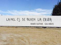 La piel es de quien la eriza #Acción Poética Gro #accionpoetica