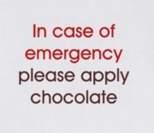 Image result for emergency chocolate