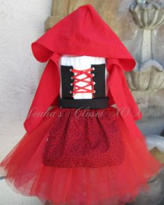 Inspired Little Red Ridding hood Dress Up by JennasClosetXOXOs - idea for clay