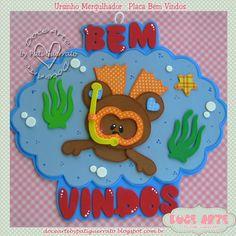 Apostilas Doce Arte: 286 - Apostila - Bem Vindos Ursinho mergulhador