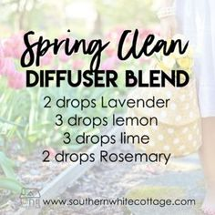 everyday diffuser blends, spring clean diffuser blend