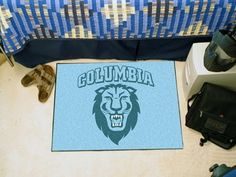 Columbia University Starter Mat by Fanmats. $13.68. Columbia University Starter MatDecorate your home or office with area rugs by FANMATS. Made in U.S.A. 100% nylon carpet and non-skid recycled vinyl backing. Officially licensed and chromojet printed in true team colors. Please note: These products are custom made. The normal lead time is about 7-10 business days. However, the putting mats and carpet tiles do take a little longer, about 14-21 business days.***This item is expecte...