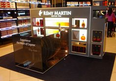 Showroom display remy martin alcohol
