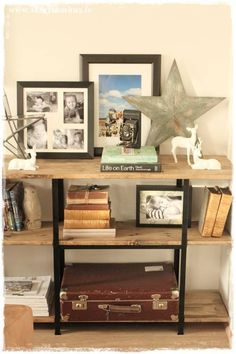 Hyllis shelves from Ikea get a upgraded Restoration Hardware/Pottery Barn-ish look :) http://www.skreytumhus.is/?p=25788