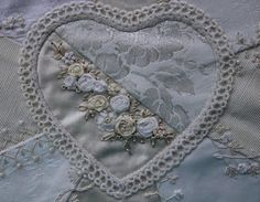 Humming Needles: Crazy Quilted Ring Bearer's Pillow in Progress III