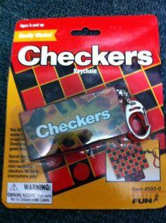 Basic Fun Checkers Game Keychain NIP   eBay