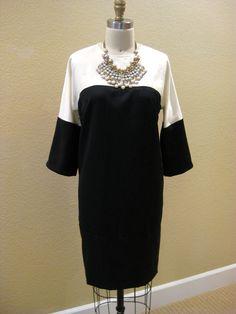 Vogue Color Block Dress - V8805