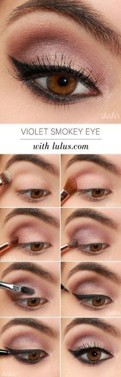 Violet smokey eye tutorial