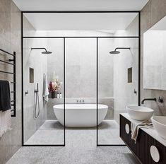 48 increíbles ideas de diseño de baño para copiar Ideas de remodelación de decoración del hogarIdeas increíbles de diseño de baño para que usted increíbles ideas de diseño de baño Modern Bathroom Decor, Simple Bathroom, Bathroom Interior Design, Bathroom Black, Minimal Bathroom, Ikea Interior, Apartment Interior, Apartment Design, Bad Inspiration
