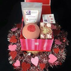 Happy Valentine's Day!! Are you still looking for that purrrfect gift for that special someone? Look no further. This Valentine's Day gift sets are 3 piece and you have 3 options to choose from.  Option one: Soap Soak Bath Bomb $15 per box  shipping  Option two: Soap Soak Scrub(blueberry or Georgia peach)  $22 per box  shipping  Option three: Soap Soak Fairy Dust(A bath bomb that is crushed into powder) $15 per box  shipping All soaps bath bombs fairy dust and soaks are scented with Sweet…
