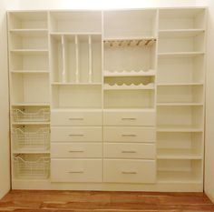 I love this EasyClosets pantry. Affordable, simple to put together and completely customizable.