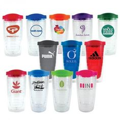 $$/ea. (minimum quantity 72) Crown - 16oz. Orbit Tumbler || KEN YOUNG CO || double wall plastic tumbler, with lid, several color options, matching lid color, custom printed logo, blank for your logo print, promo products, promotional products, cups, tumblers, to-go cups
