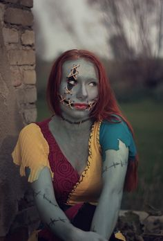 cosplay of sally, nightmare before christmas
