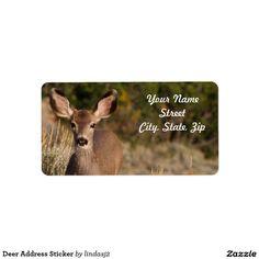 Deer Address Sticker