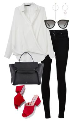 """""""Untitled #3064"""" by elenaday ❤ liked on Polyvore featuring Citizens of Humanity, Steve Madden and Prada"""