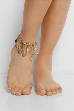 Rosantica Appeso gold-dipped multi-colour anklet