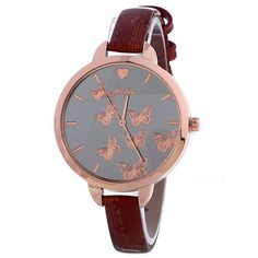 6.17$  Buy here - http://di3zd.justgood.pw/go.php?t=206947207 - Faux Leather Butterfly Pattern Quartz Watch 6.17$