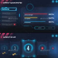 Furistic Game UI (Specially designed for space game ) - Game Gui, Ar Game, Game Interface, User Interface Design, Game Ui Design, App Design, Modern Games, Space Games, Portal