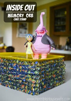 How to make an Inside Out memory orb cake stand for your next Inside Out party