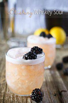 Spring Cocktail Ideas   Blushing Whiskey Sour