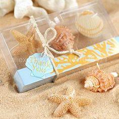 6 kutu deniz kabuğu yıldız candels lehine düğün şeker hediye çikolata kutuları mum düğün dekorasyon toptan(China (Mainland))