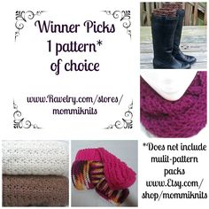 Mommiknits URL: https://www.facebook.com/mommiknits PRIZE: 1 winner receives a PDF Pttern of their choice sent via email or Ravelry gift.