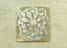 Flower Carving made from Water Buffalo Horn; Lou Zeldis Studio