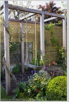 Backyard Swings, Backyard Privacy, Swimming Pools Backyard, Backyard For Kids, Backyard Patio, Home Garden Design, Patio Design, Lawn And Garden, Garden Art