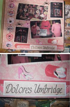 Dolores Umbridge Harry Potter scrapbook