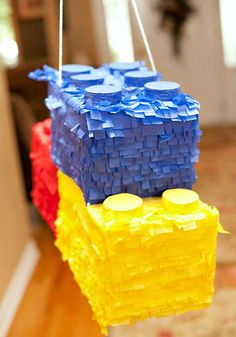 Boys Bright Lego Themed Birthday Party Pinata Ideas - Lego Games, Crafts, Party Ideas, Organization, and Learning - Lego Themed Party, Lego Birthday Party, 6th Birthday Parties, Boy Birthday, Lego Parties, Birthday Ideas, Birthday Wishes, Birthday Cakes, Happy Birthday