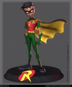Robin fan art by Gabriel Pereira   3D   CGSociety