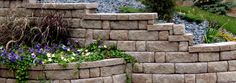 This Highland block garden wall, installed by Natural Elements, is a wonderful addition to any hillside garden.