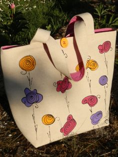 Hand Painted Tote Shopper Shoulder by JoFiArtCreations on Etsy, $85.00 Art Bag, Jute Bags, Paint Shop, Purses And Bags, Totes, Reusable Tote Bags, Hand Painted, Trending Outfits, Shoulder