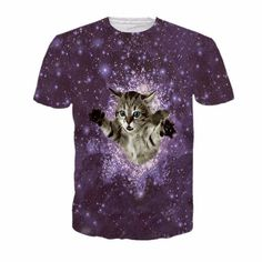 2017 NEW Surprised cats t-shirt fluffy cuddly terrified cat faces awesome t shirt women men 3d summer tee shirt