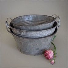 Round Galvanised Tubs