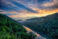 Stunning natural beauty - Yahoo Falls Overlook - Stearns, Kentucky (McCreary County).   Photo Credit:  Greg Davis #kentucky #hiking #biking