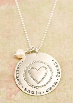 sterling brave love necklace