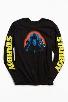 792f0609f39 Slide View  1  The Weeknd Starboy Photo Long Sleeve Tee Trendy Outfits
