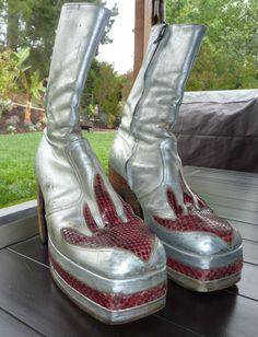 1970's vintage original platform boots custom made for Black Oak Arkansas #Boots