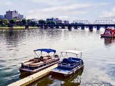 Fine Art and Home Decor Available! - 'View Of Walnut St Bridge Seen From City Island' by Susan Savad - The Walnut St Bridge is a pedestrian bridge which connects downtown Harrisburg, PA with City Island which hosts many sport and entertainment events. AS LOW AS $27#harrisburg
