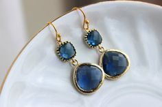 Hey, I found this really awesome Etsy listing at https://www.etsy.com/no-en/listing/225162024/gold-large-sapphire-earrings-navy-blue