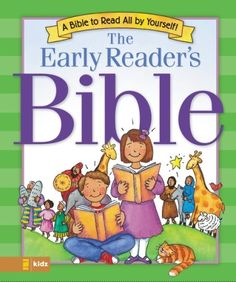 Early Readers Bible by V. Gilbert Beers,http://www.amazon.com/dp/0310701392/ref=cm_sw_r_pi_dp_rXhitb0M2Y48JCJV