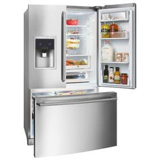Electrolux.....this fridge is awesome! Love it!